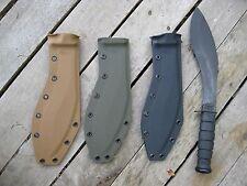 Valhalla Custom Kydex Sheath Ka-Bar Combat Kukri 1280 COYOTE SHEATH ONLY