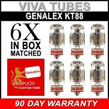 Brand New Matched Sextet (6) Genalex Gold Lion Reissue KT88 / 6550 Vacuum Tubes