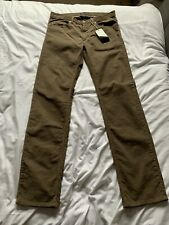 Aquascutum Gents Corduroy Jeans Regular 34 Brown Made In Italy BNWT