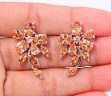 "New ! Morganite Women Fashion Jewelry Gemstone Silver Stud Earrings 1"" FH5549"