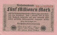 * Ro. 104b - 5 millones de marcos-Deutsches Reich - 1923-Fz: a partir de *