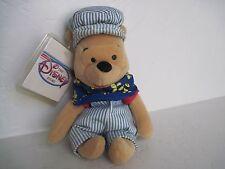 "Disney Winnie The Pooh MINI BEAN BAG CHOO CHOO POOH 8"" Plush Stuffed Animal"
