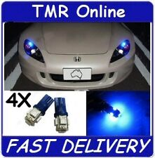 4 x 12V W5W T10 LED Blue Instrument Car Interior Parker Dash Globes Bulbs 5SMD