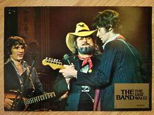THE BAND - LAST WALTZ German lobby card#9 Bob Dylan - RONNIE HAWKINS - SCORSESE