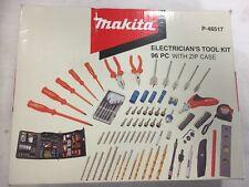 Makita P-46517 96 piezas Kit de herramientas electricistas Taladro Destornillador Bolsa