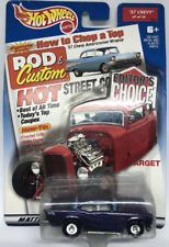 Hot Wheels Editors Choice '57 Chevy Rod & Custom Magazine Purple Real Riders