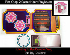 New Replacement Decals Stickers fits Step 2 Sweet Heart Playhouse Step2 Cubby