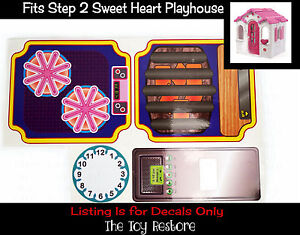 Toy Restore Replacement Stickers fits Step2 Sweet Heart Playhouse Cubby Decals