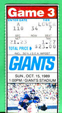10/15/89-WASH REDSKINS @ NY GIANTS TICKET STUB-LAWRENCE TAYLOR/PHIL SIMMS