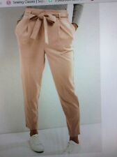 LADIES NEW LOOK BONAS TIE WAIST PEG LEG TROUSERS SIZE 16