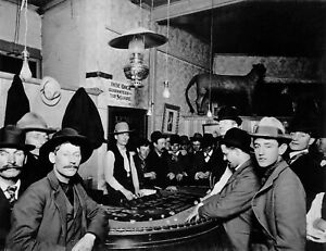 Craps Game c1900 Gambling Casino Digitally Restored Vintage Photo Reprint