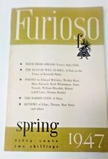 Editor Reed Whittermore/ FURIOSO - Vol 2 No 3 - Spring 1947  literary magazines