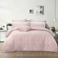 Bianca Alden Super Soft Velvet Quilt Cover Set Blush