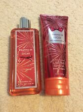bath and body works Wrapped In Sugar Shower Gel And 24 Hour Moisture Ultra Shea