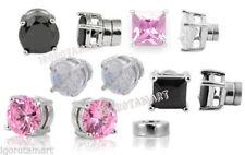 Unbranded Magnetic Cubic Zirconia Stud Costume Earrings