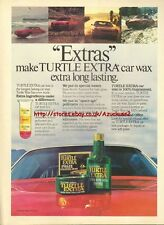 Turtle Wax Extra Car Wax 1979 Magazine Advert #3440