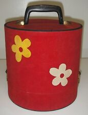 Vintage 1960's/1970's Wig Hat Box/Case Travel Carrier Luggage w Mannequin Head