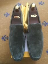 New John Lobb Mens Shoes Green Suede Loafers UK 11.5 US 12.5 45.5 Slipper House