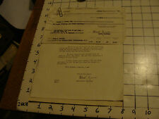 Original 1940 letter: KANAWHA VALLEY BANK + statement of Foreign check
