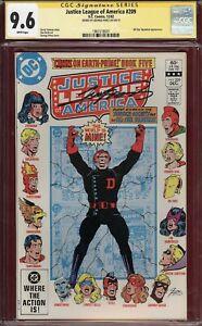 CGC SS 9.6 George Perez Cover Justice League of America #209 JSA JLA Zatanna