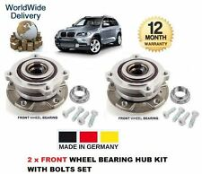 FOR BMW X5 E70 2007--  2 x FRONT WHEEL BEARING & HUB KIT SET COMPLETE WITH BOLTS