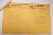 1940 Lamson Goodnow Beaver Wood Products North Anson Me Signed Ephemera P664A