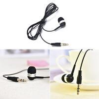 Single Side Headset In Ear Mono Wire 3.5mm Earbud Earphone Headphone Universal