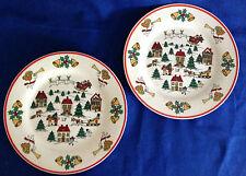 Vintage Jamestown China THE JOY OF CHRISTMAS Set of 2 Salad Plates