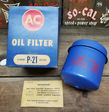 NOS 1934-59 MOPAR AC OIL FILTER P-21 PLYMOUTH DESOTO CHRYSLER DODGE CANISTER VTG