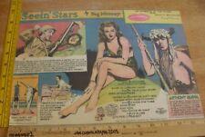 Ann Sheridan Anthony Quinn Seein' Stars Feg Murray 1930s Sunday color panel 4e