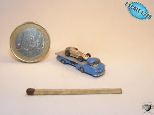 Mercedes Schnelltransporter+ MercedesW196 Z scale 1/220 Hand-painted Metal Model
