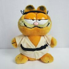 Karate Garfield 80s Dakin Plush Stuffed Animal Cartoon