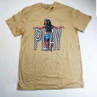 Play cloths Men 100% authenitc S/S t-shirt size large beige logo