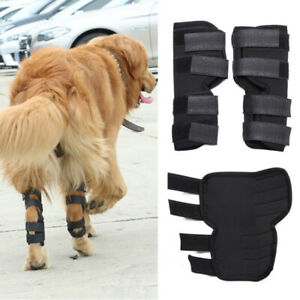 Dog Leg Brace Knee Cast Support Canine Rear Leg Hock Joint Protection Wrap S-XL