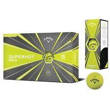 Callaway Superhot Bold Golf Balls Matte Yellow Two 15-Ball Packs 2018 NEW 10224