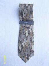"Croft & Barrow Men's Neck Tie Gold Diamond Pattern Silk 3.5""x 58"" **NEW**"