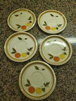 "Set of 5 Vintage MIKASA Stone Manor ""Tempting"" F5812  Plates  6-1/2"" 1974-1982"