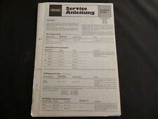 Original Service Manual Grundig RC 201 RF 511 RF 551