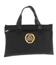 Black Grand Master Masonic Tote Bag for Freemasons Colorful Logo