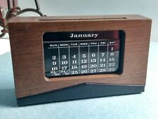 Vintage Scheibe Product WOOD Leather PERPETUAL CALENDAR COMPLETE Calendar Tiles