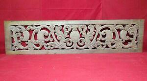 Antique Wall Panel Floral Handcarved Wooden panel Estate Vintage Church Decor UK