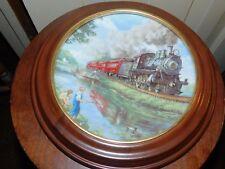 An American Classic Golden Age American Railroads Hamilton collector plate frame