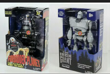 Iron Giant & Robby the Robot Walking Talking light up figures New