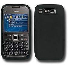 New Silicone Jellly Skin  Back Case Cover For Nokia E73 Mode Black