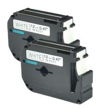 2PK M-K231 MK-231 Compatible for Brother P-touch  PT-65 Label Tape Ribbon 12 mm
