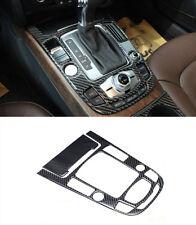 Carbon Fiber Car Console Gear Shift Panel Cover Trim Strip For Audi A4 A5 Q5