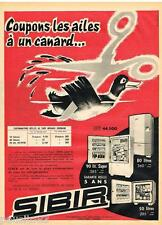 PUBLICITE ADVERTISING 095  1957  SIBIR    Réfrigérateur CANARD