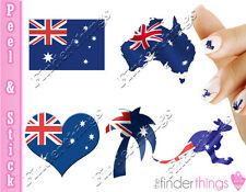 Australian Flag Australia Multi Variety Set Nail Decal Sticker AUS901