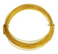12m ALUMINIUMDRAHT GOLD 1mm SCHMUCKDRAHT BASTELN BIEGEDRAHT Aludraht BEST C107