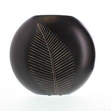 New Artisan Vase Leaf Home Decor Carved Wooden Flower Centerpiece Table Floral